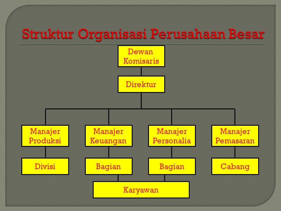 Struktur Organisasi Perusahaan Besar