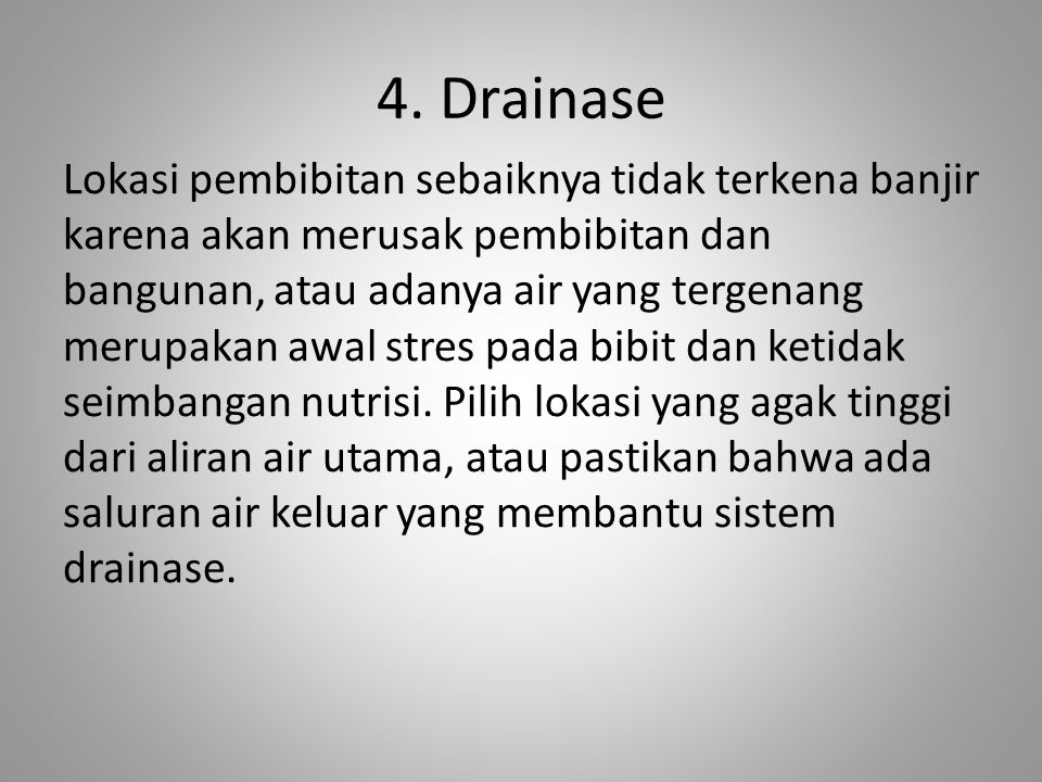 4. Drainase