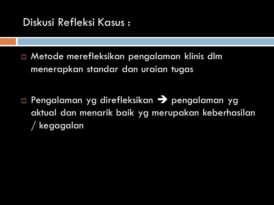 Diskusi Refleksi Kasus :