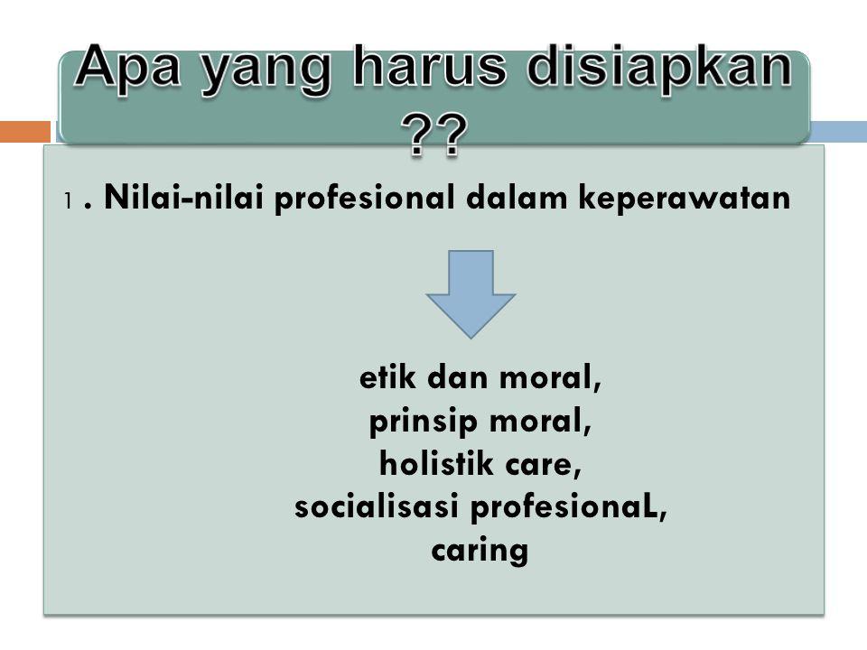 Apa yang harus disiapkan socialisasi profesionaL,
