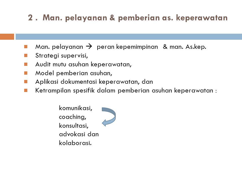2 . Man. pelayanan & pemberian as. keperawatan