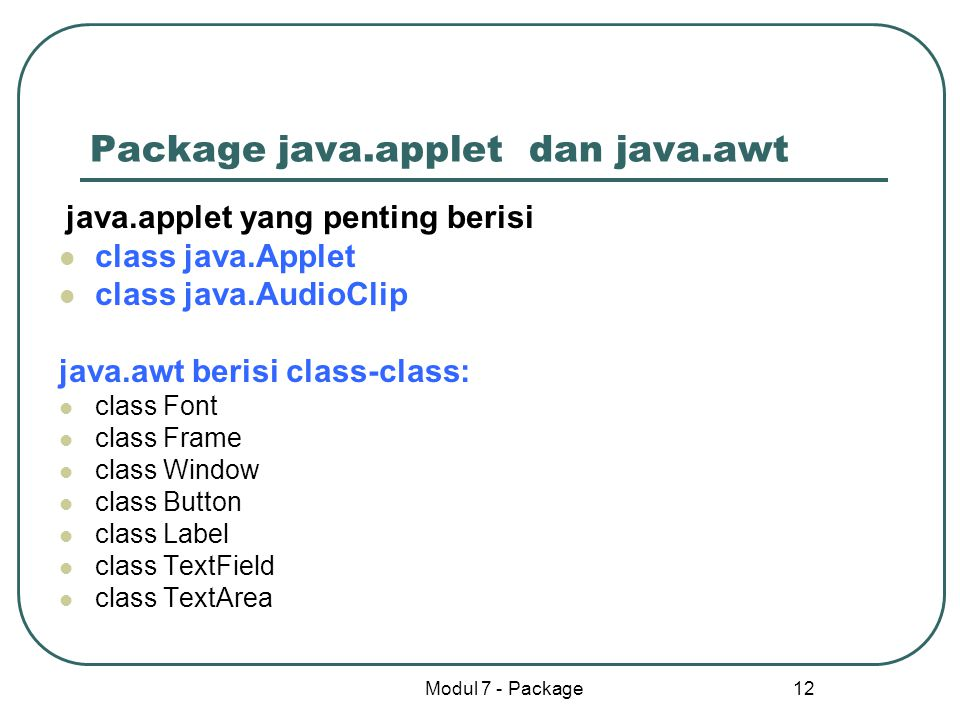 Package java.applet dan java.awt