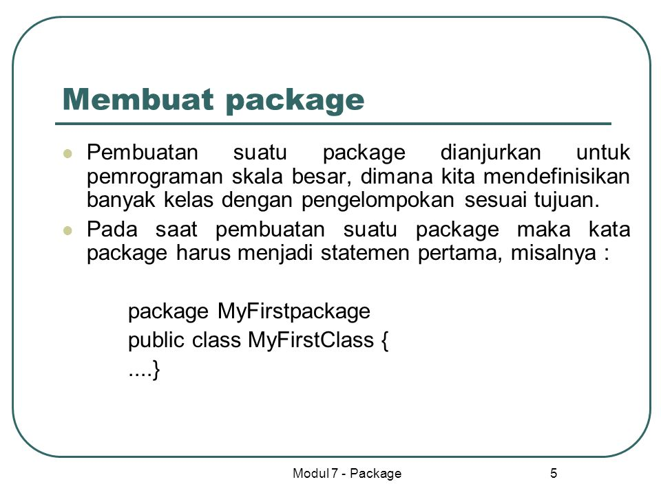 Membuat package