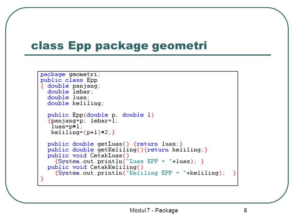 class Epp package geometri