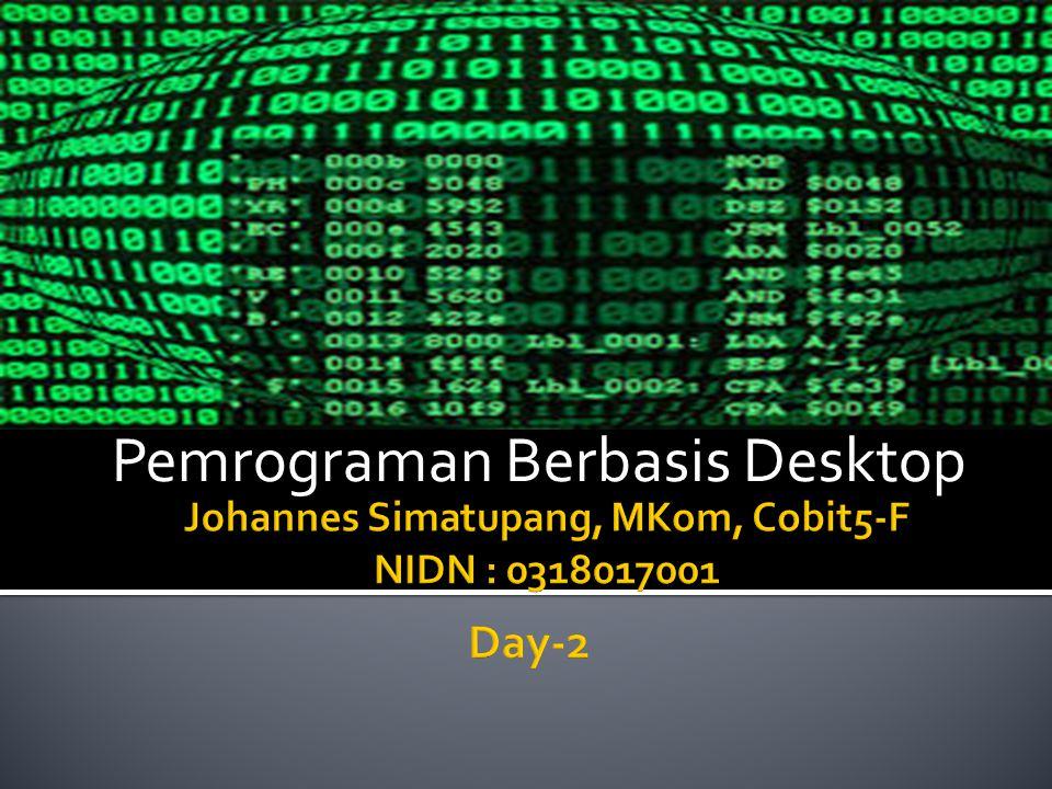 Johannes Simatupang, MKom, Cobit5-F NIDN : 0318017001