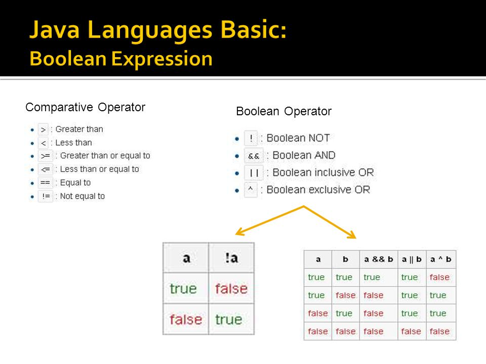Java Languages Basic: Boolean Expression