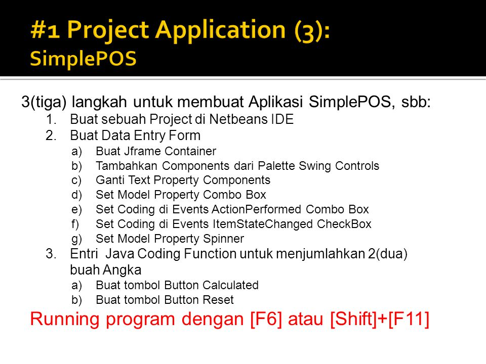 #1 Project Application (3): SimplePOS