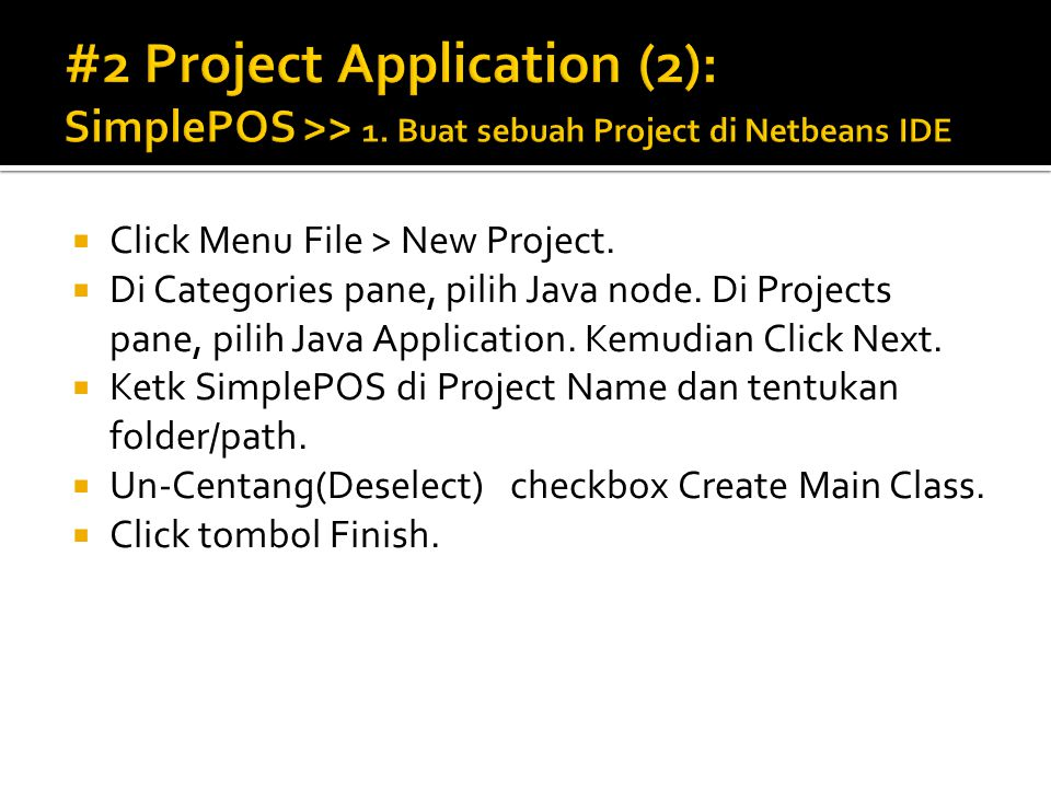 #2 Project Application (2): SimplePOS >> 1