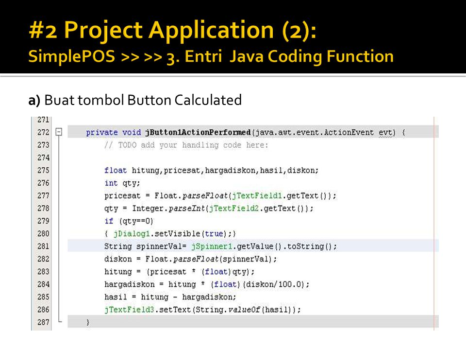 #2 Project Application (2): SimplePOS >> >> 3
