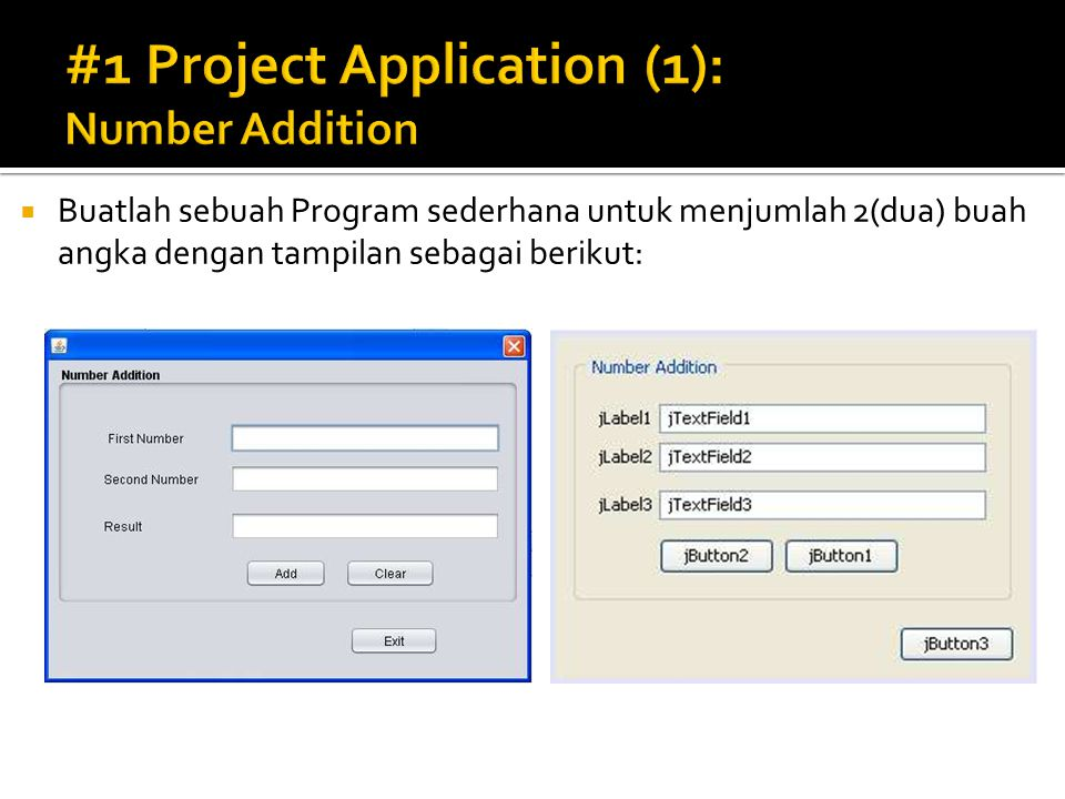 #1 Project Application (1): Number Addition