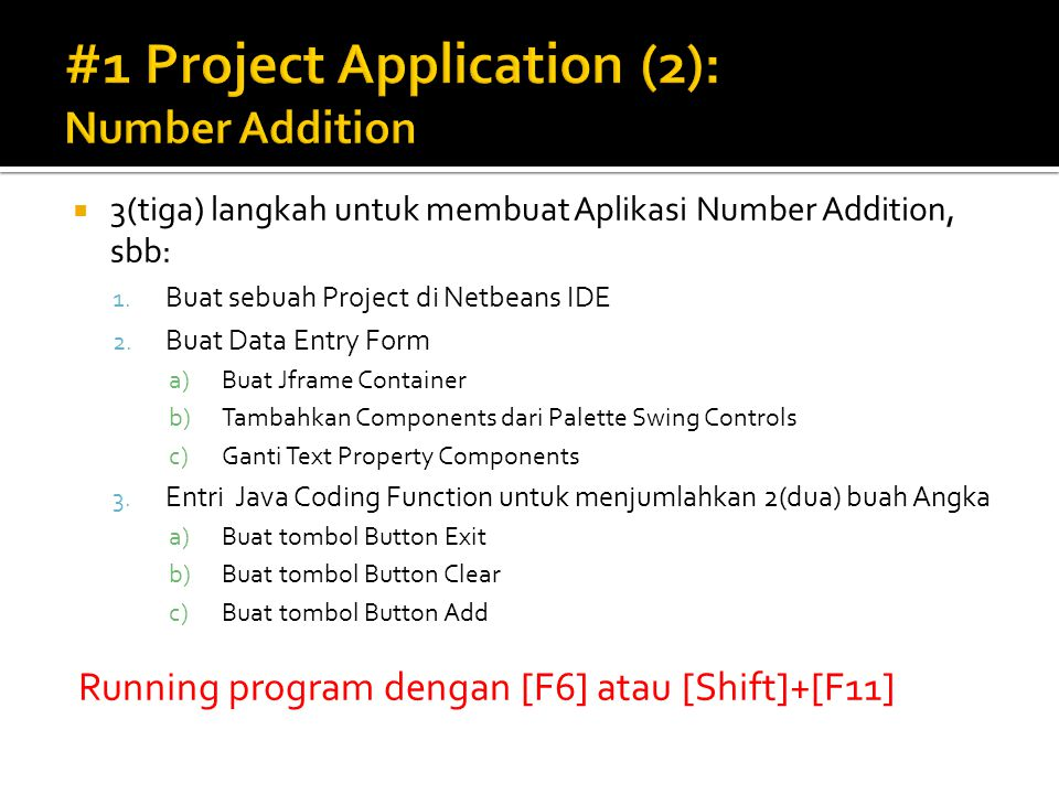 #1 Project Application (2): Number Addition