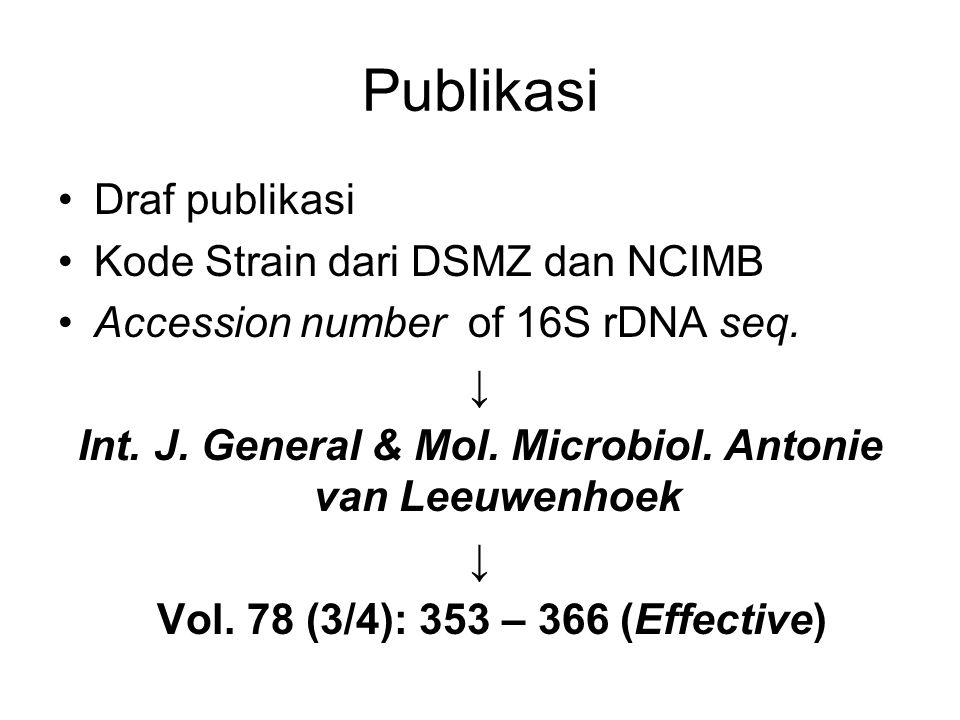 Int. J. General & Mol. Microbiol. Antonie van Leeuwenhoek