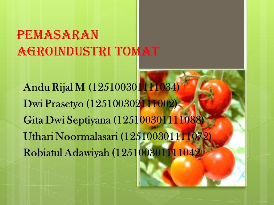 Pemasaran Agroindustri Tomat