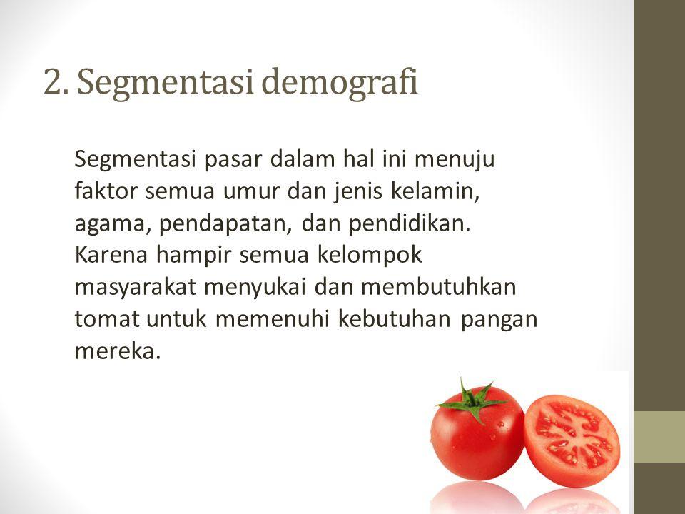 2. Segmentasi demografi