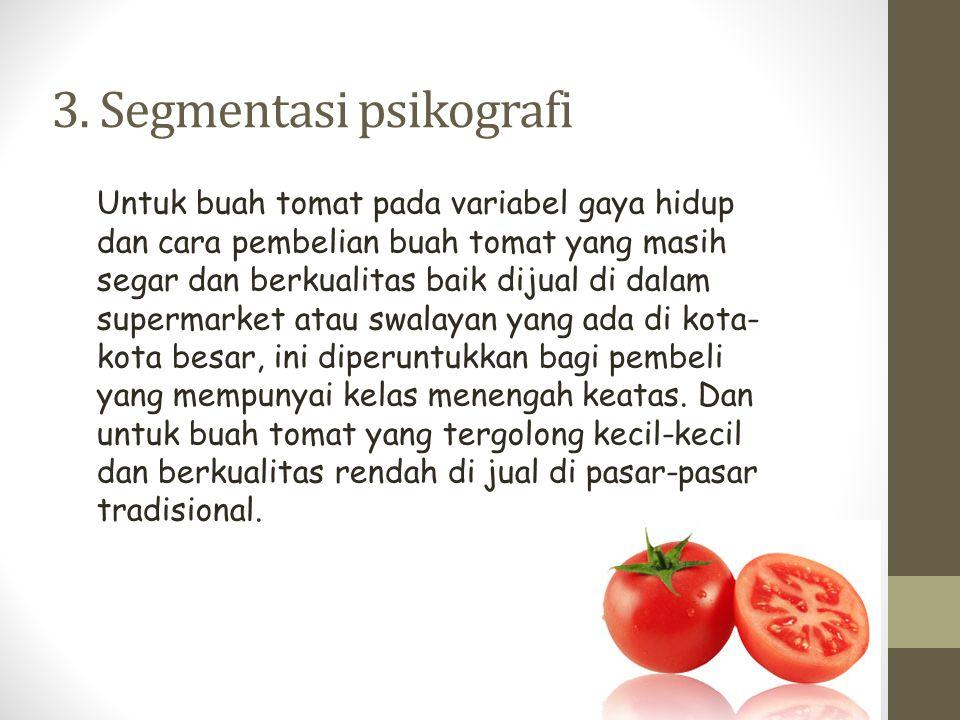 3. Segmentasi psikografi