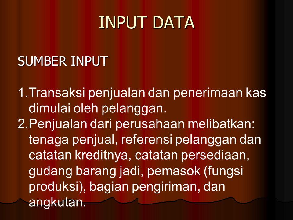 INPUT DATA SUMBER INPUT