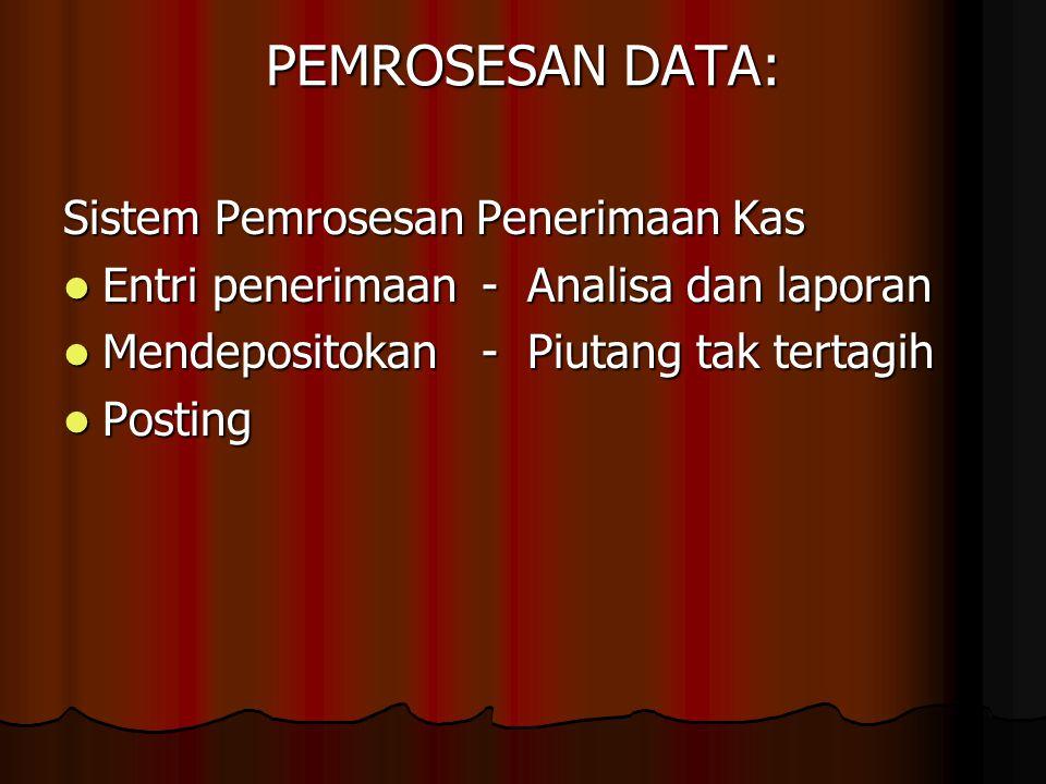 PEMROSESAN DATA: Sistem Pemrosesan Penerimaan Kas