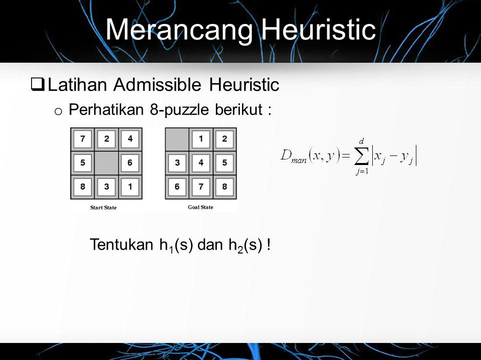 Merancang Heuristic Latihan Admissible Heuristic