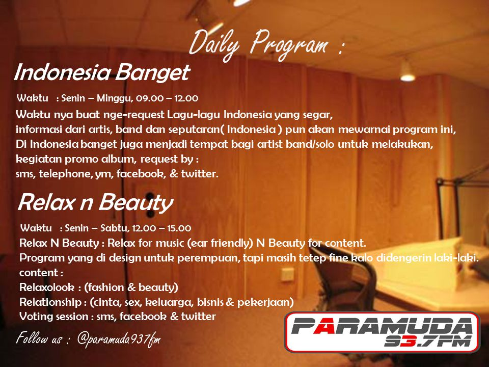 Daily Program : Indonesia Banget Relax n Beauty