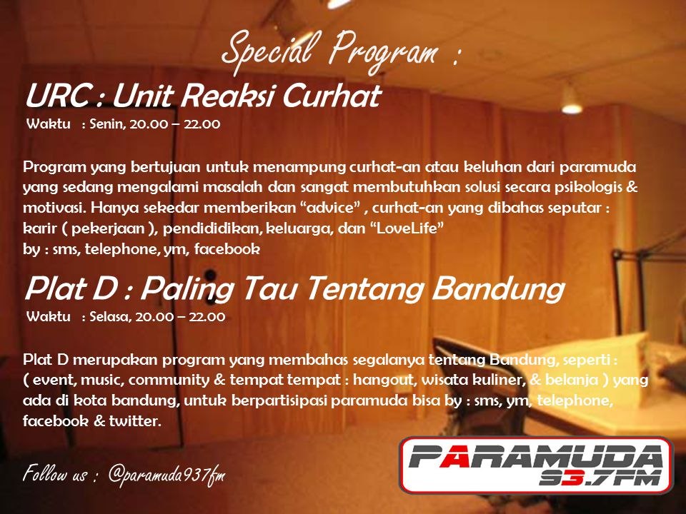 Special Program : URC : Unit Reaksi Curhat