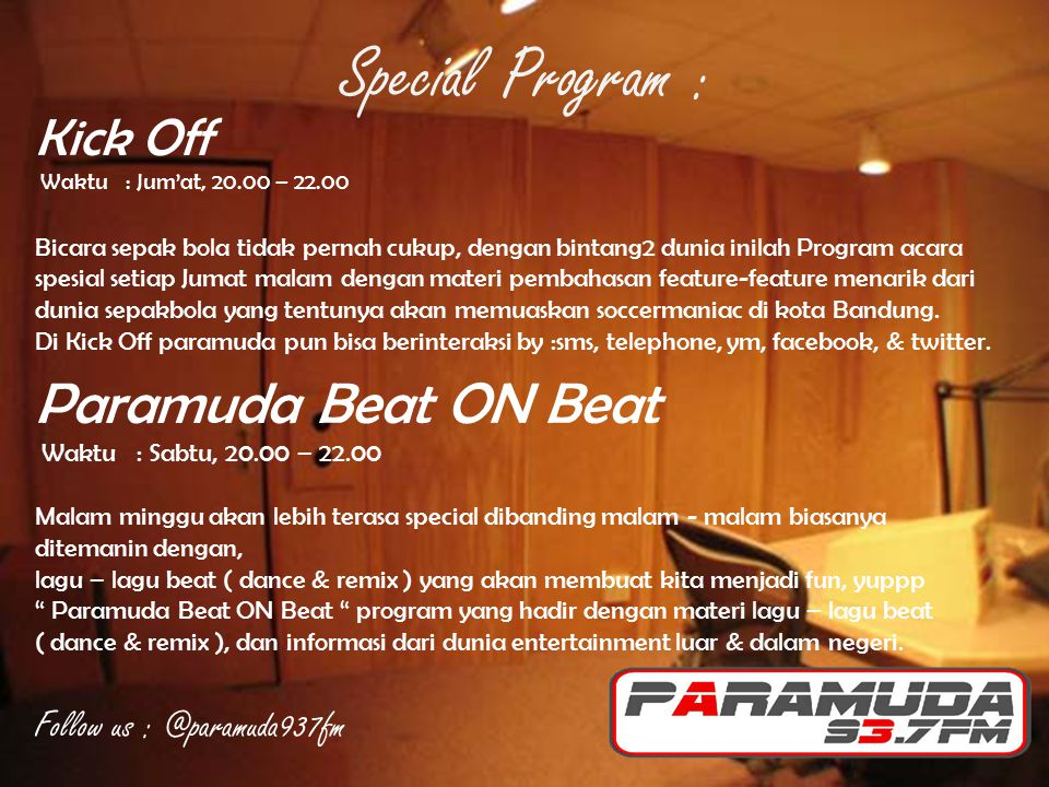 Special Program : Paramuda Beat ON Beat Kick Off