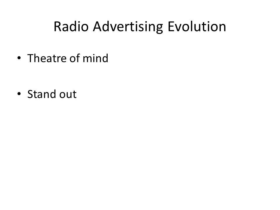 Radio Advertising Evolution