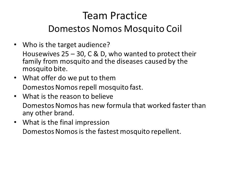 Team Practice Domestos Nomos Mosquito Coil