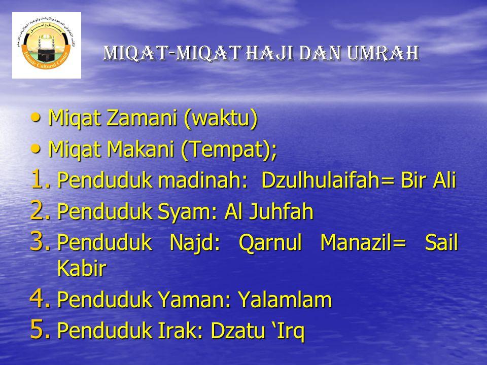 Miqat-miqat Haji dan Umrah