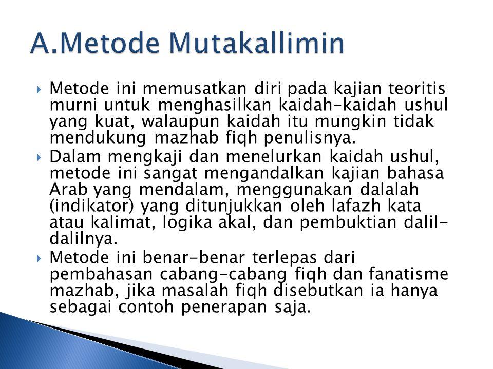 A.Metode Mutakallimin