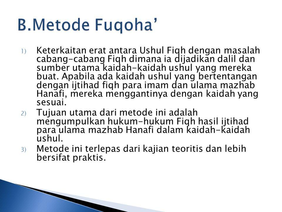 B.Metode Fuqoha'