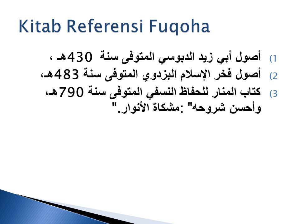 Kitab Referensi Fuqoha