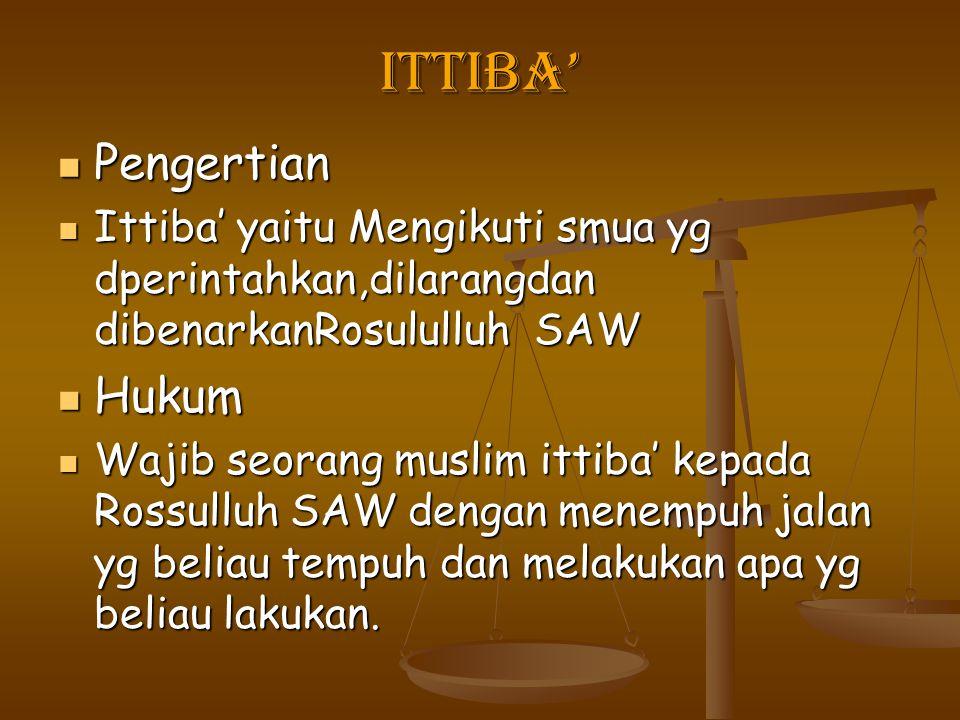 Ittiba' Pengertian Hukum