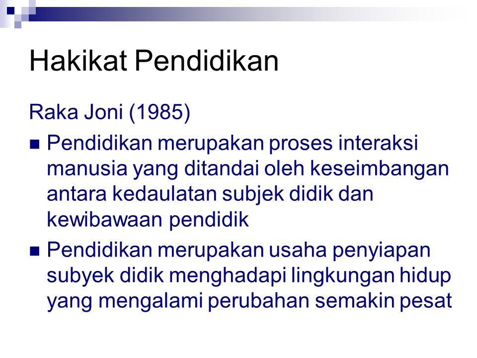 Hakikat Pendidikan Raka Joni (1985)
