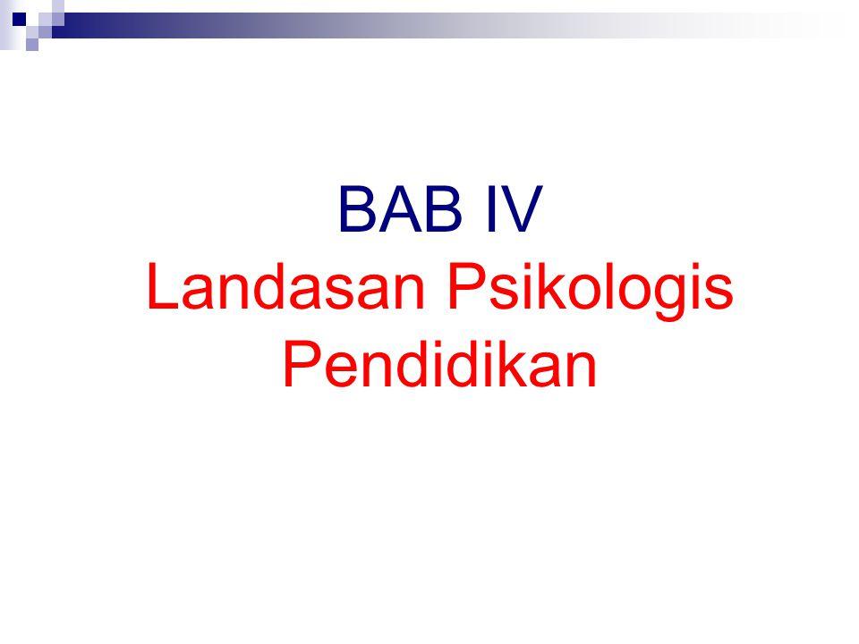 BAB IV Landasan Psikologis Pendidikan
