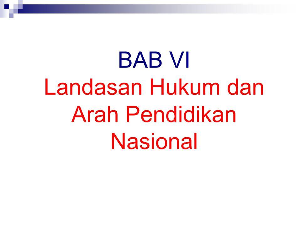 BAB VI Landasan Hukum dan Arah Pendidikan Nasional