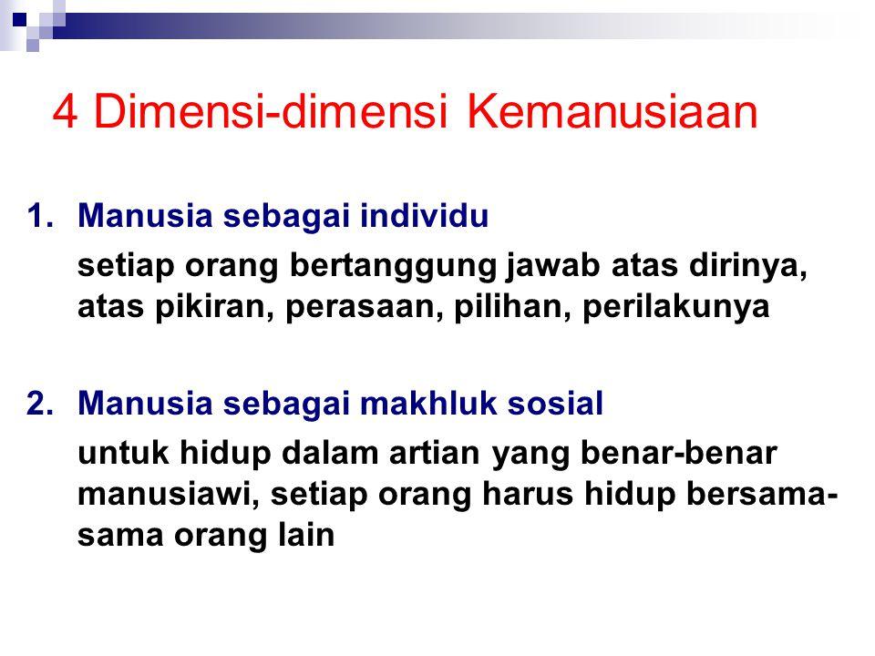 4 Dimensi-dimensi Kemanusiaan