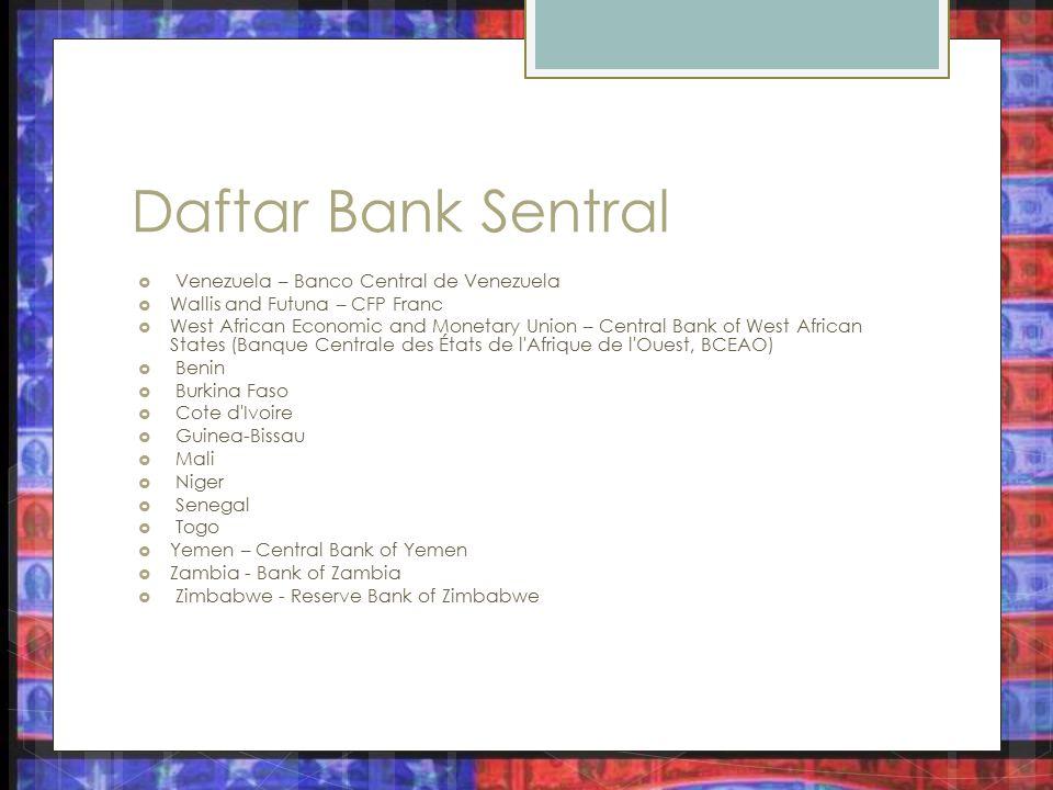 Daftar Bank Sentral Venezuela – Banco Central de Venezuela