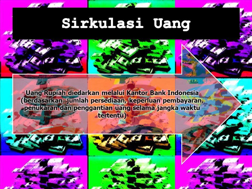 Uang Rupiah diedarkan melalui Kantor Bank Indonesia