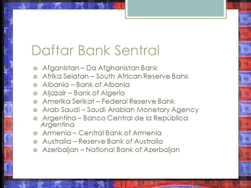 Daftar Bank Sentral Afganistan – Da Afghanistan Bank