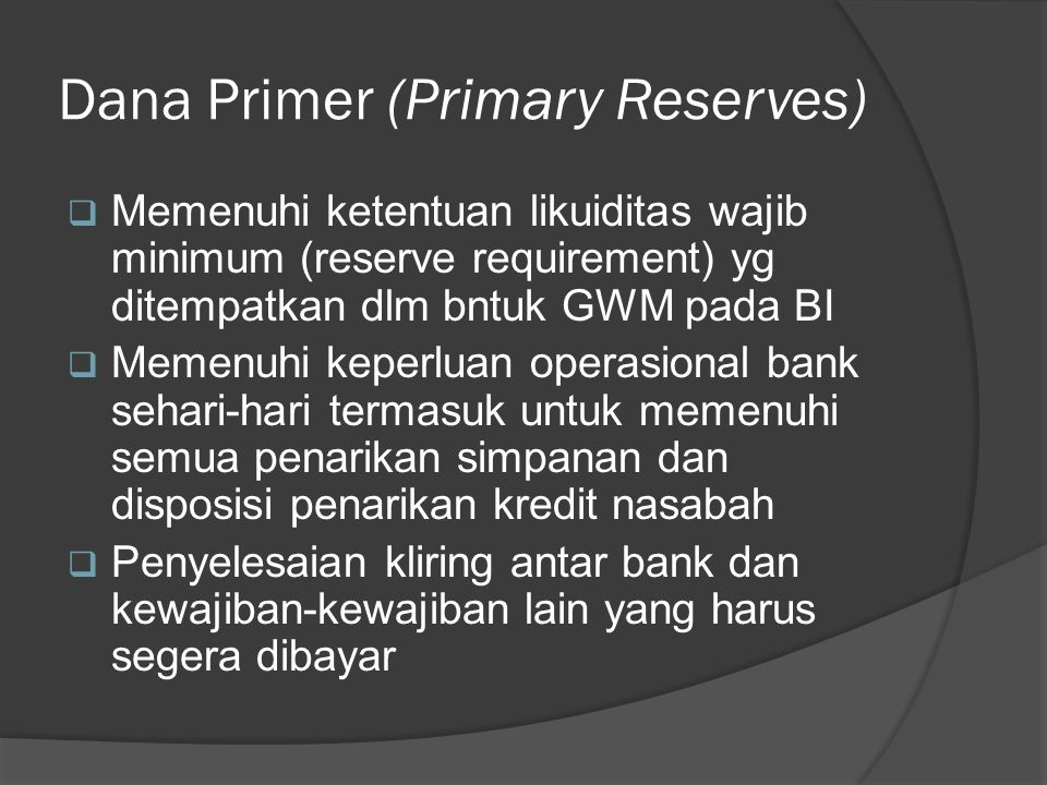 Dana Primer (Primary Reserves)