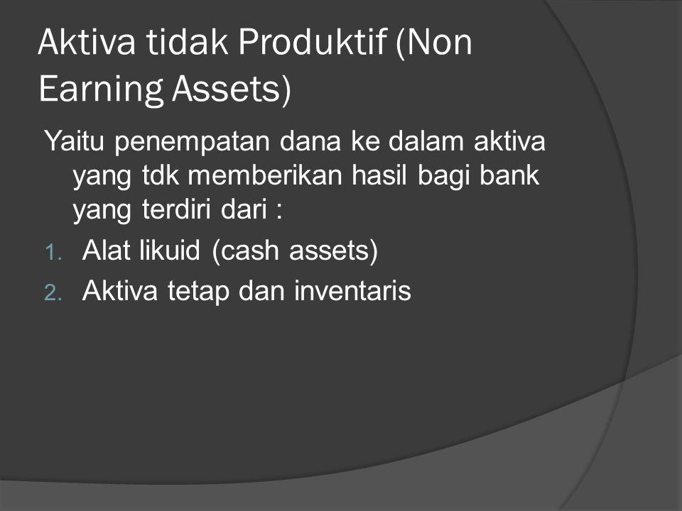 Aktiva tidak Produktif (Non Earning Assets)