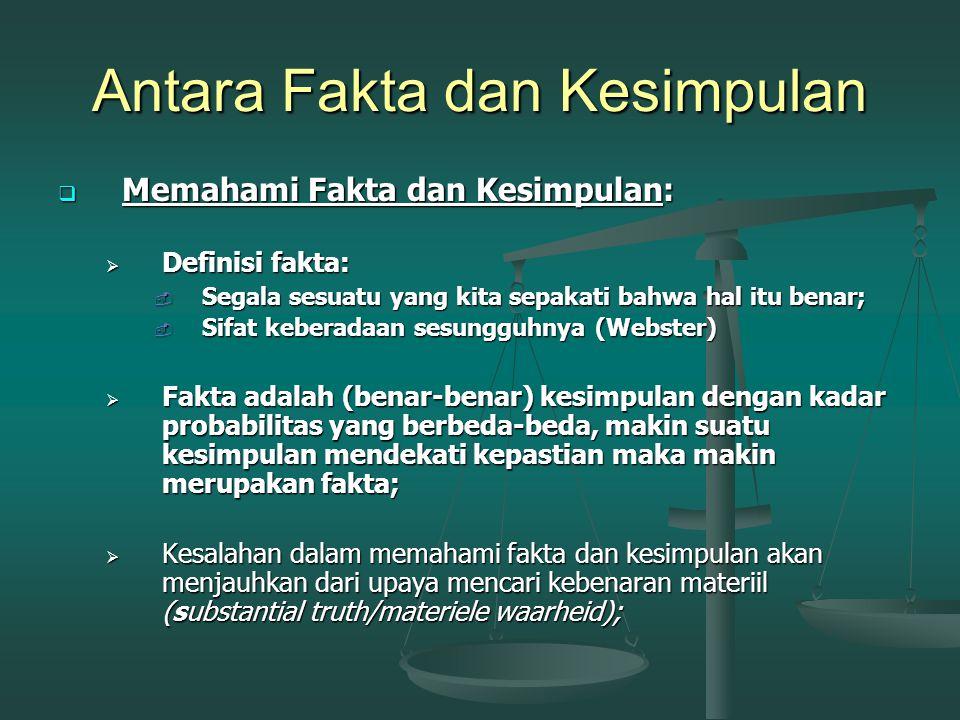 Antara Fakta dan Kesimpulan