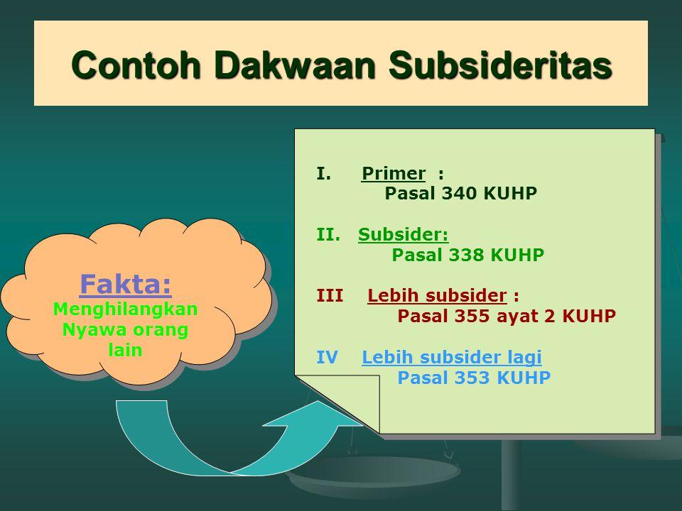 Contoh Dakwaan Subsideritas