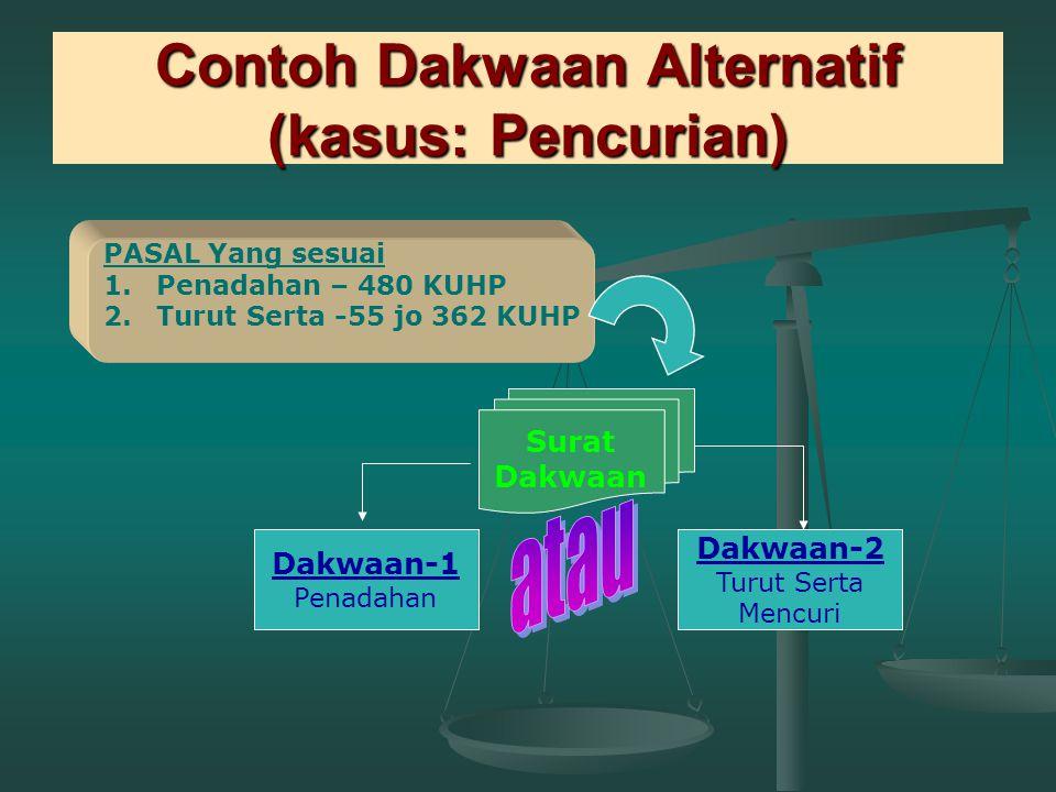 Contoh Dakwaan Alternatif (kasus: Pencurian)