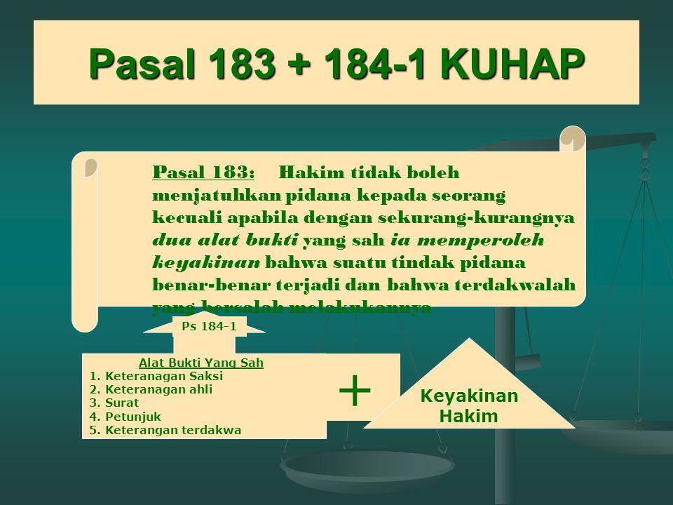 Pasal 183 + 184-1 KUHAP