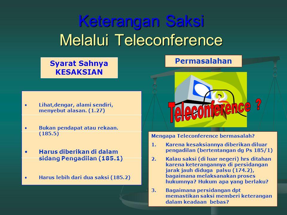 Keterangan Saksi Melalui Teleconference