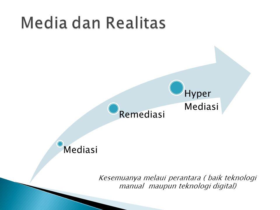 Media dan Realitas Mediasi. Remediasi. Hyper Mediasi.