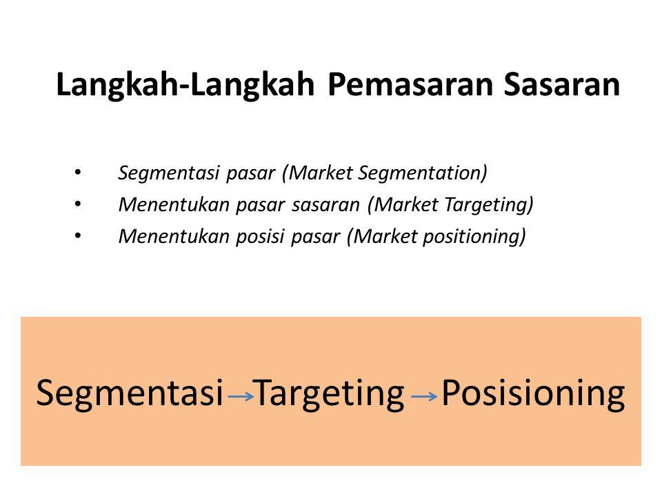 Langkah-Langkah Pemasaran Sasaran