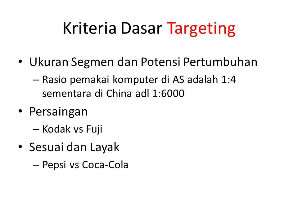 Kriteria Dasar Targeting