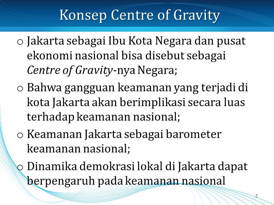 Konsep Centre of Gravity